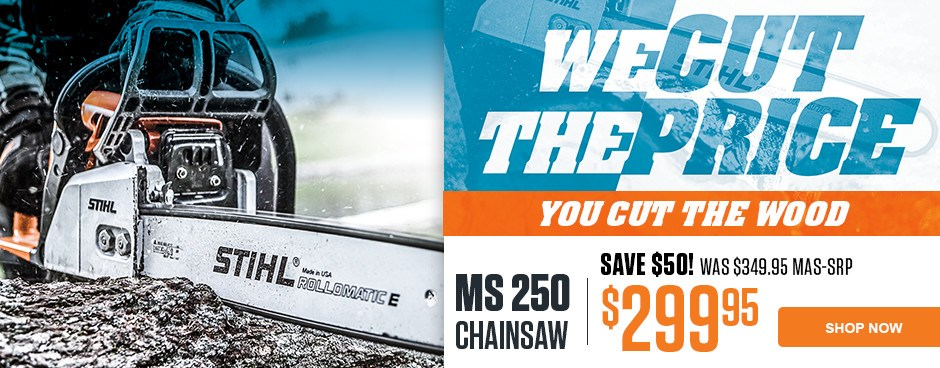 Save $50 on MS 250 Chainsaw!